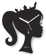 Zeeshaan Wall Clock ZEE319-2, black