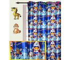 HandloomTrendz Beautiful Doremon Print Kids Window Curtain(CnDMblue4X5), blue