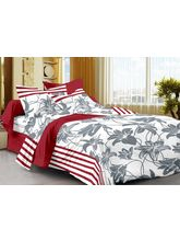 Story@ Home 100% Cotton 1 Single Bedsheet with 1 Pillow Cover, design 9
