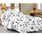 Story At Home 152 TC Pure Cotton Double Bedsheet With 2 Pillow Cover, white