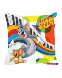 Warner Brother Tom & Jerry Cushion Cover 16 x 16 inch, multicolor