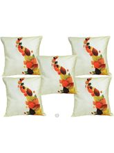 Me Sleep Cushion Covers Painted Leaves (Set Of 5)