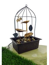 Importwala Premium Cage Metal Fountain With LED Li...