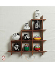 Wall decor with miniature pots (Multicolor)