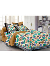 Story@ Home Brown 100% Cotton Pearl 1 Double Bedsheet With 2 Pillow Cover-PL1112, brown