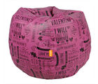 Orka Valentine 6 Digital Printed Bean Bag Cover Only, pink and black, xxxl