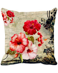 Leaf Designs Fiery Vintage Cushion Cover (FBLD833), multicolor, 16x16