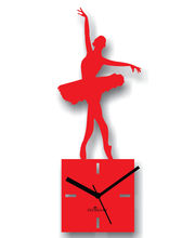 Zeeshaan Wall Clock ZEE321-1, red