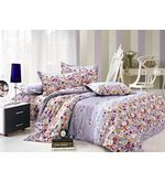 Storyathome Kings Size Multi Circle Double Bedsheet, multicolor