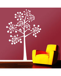 Creative Width Ball Tree Wall Decal, multicolor, small