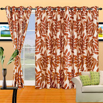Cortina Silky 5Ft Curtain,  coffee