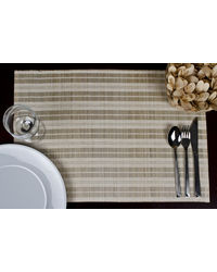 Rope Premium Talipot Table Mats - Natural - Set Of Six, multicolor