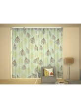 House This Second Spring & 1 Window Curtain, blue and green