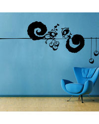 Creative Width Squirral Love Wall Decal, multicolor, medium