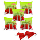 meSleep Set of 5 Merry Christmas Digitally Printed Cushion Cover (16x16) -With 2 Pcs,  green