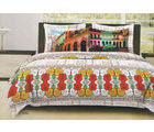 Bombay Dyeing Around The World Bed Sheet Set - AW-6262, multicolor
