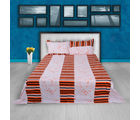Story At Home Pure Cotton Double Bedsheet With 2 Pillow Cover, orange