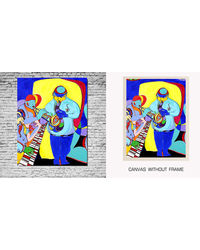 meSleep Canvas painting without frame - Jazz Music, multicolor