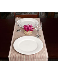 Rope Premium Talipot Table Runner, Striped - Pink, pink