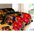 Story King Size Red Flowers Double Bed sheet IM1040, multicolor