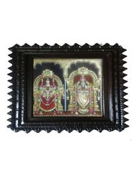 "Tanjore painting-Leaf Krishna 19"" x 16"", multicolor"