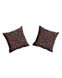 meSleep Abstract Cushion Cover - CDEK-12-2,  black