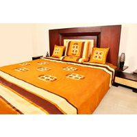 Banana Prints Set of Five Chain Bed Cover - BC_ 3005, multicolor