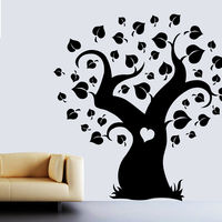Creative Width Spade Tree Wall Decal, multicolor, medium