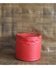 Style Homez Piping Round Ottoman Bean Bag Cover, Red, L