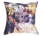 meSleep Cushion Covers Painted CASTLE, multicolor
