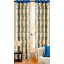 Cortina Premium 7Ft Curtain,  blue