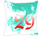 Leaf Designs Numeric Cushion cover 29, green