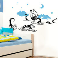 Creative Width Voyage N Dragon Wall Decal, multicolor, large