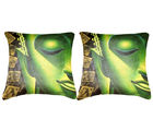 Belkado Digital Print- Pair of 'Indian Saint' Cushion Cover, multicolor