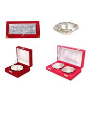 3 Silver Note+ Silver Bowl+ 2 Pc. Silver Bowl Set Combo By JEWEL FUEL,  silver