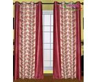 HandloomTrendz Stylish Eyelet Style Door Curtain, maroon