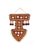 Little India Kutch Big Mirror Handwork Arrow Shape...