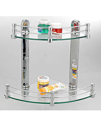 "Cipla Plast Corner Shelves Set (10"" + 12"" ) BRC-735-B-Set, multicolor"