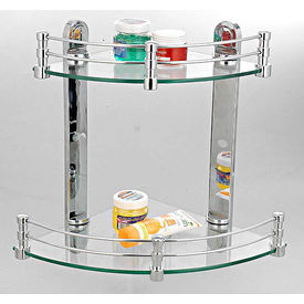 Cipla Plast Corner Shelves Set (10  + 12  ) BRC-735-B-Set, multicolor
