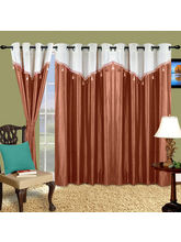 Cortina Plain Drape 9Ft Curtain, Purple
