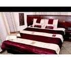 5 Pcs Maroon Shade Bed Cover Set - Flavia Design, multicolor