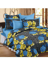 Story@ Home Blue 100% Cotton Fantasy 1 Single Bedsheet with 1 Pillow Cover-FY1103, blue