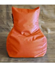 Style Homez Chair Bean Bag - Filled With Beans, Orange, L