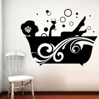 Creative Width Bubble Time Wall Decal, multicolor, large