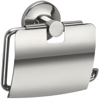 Jwell Stainless Steel Toilet Paper Holder with Lid - Sigma Series,  silver