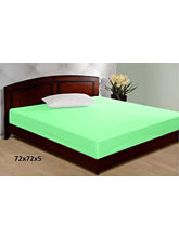 JBG Home Store 100% Waterproof Double Bed Mattress Cover, green