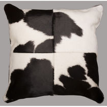 SWHF Leather Cushion Cover, black and white