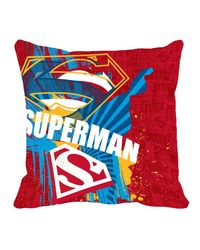 Warner Brother Super Man Cushion Cover 16 x 16 inch,  red