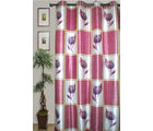 JBG Home Store Set of 2 Elegant Floral Print Designer Door Curtain(7 Ft) (Set of 2), pink