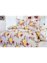 La Elite Cute Floral With Leaves Print Double Bed ...